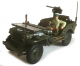 1:43 - JEEP WILLYS 4X4 W OPEN TOP + GUN & MAN