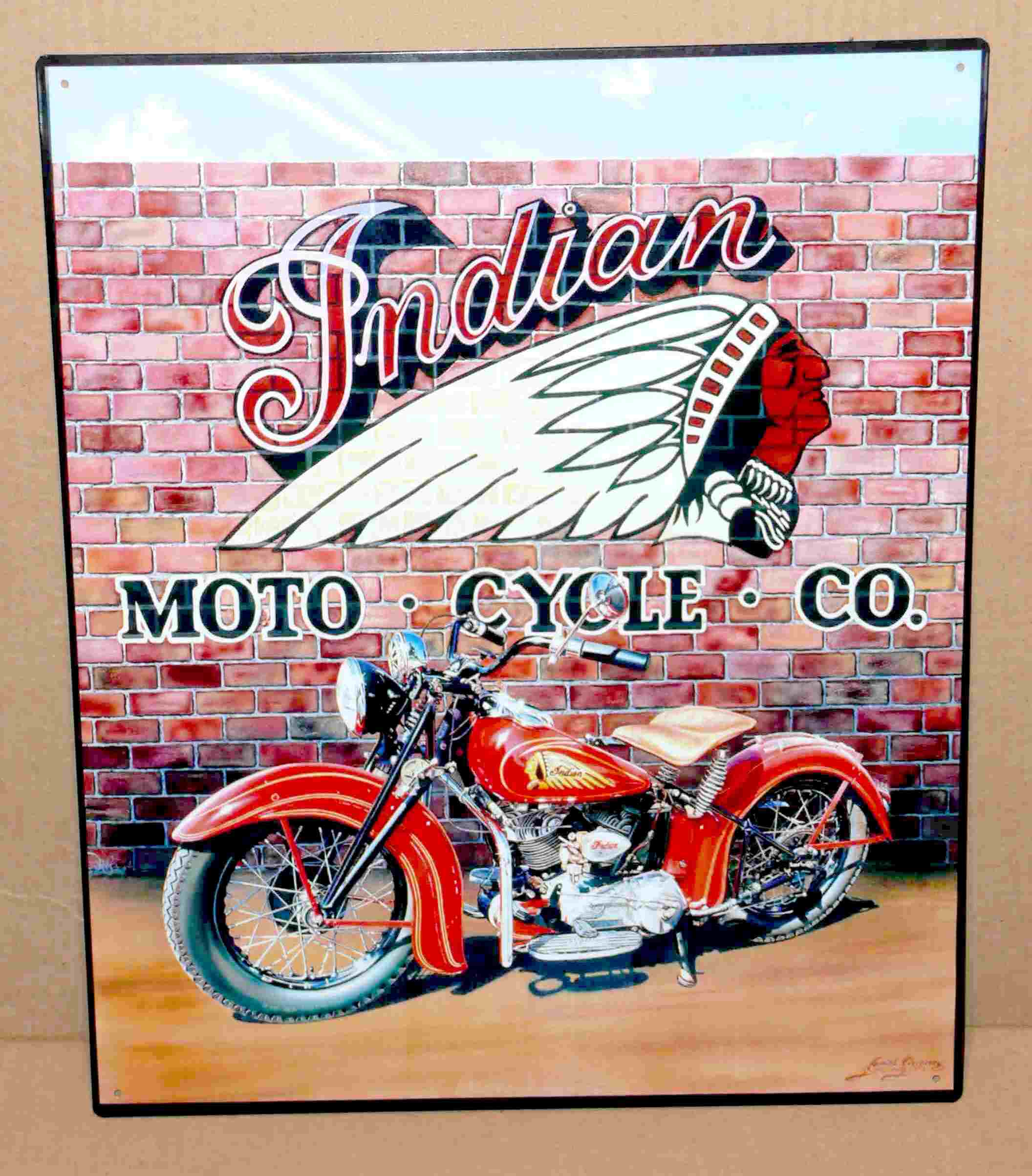 moto INDIAN  40 x 30 cm